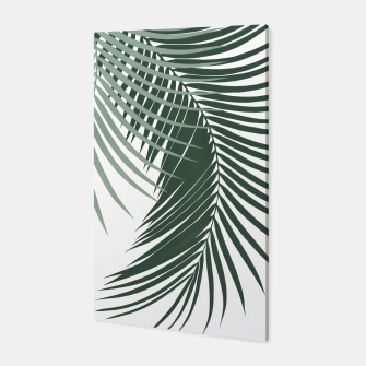 Miniaturka Palm Leaves Soft & Dark Green Vibes #1 #tropical #decor #art  Canvas, Live Heroes