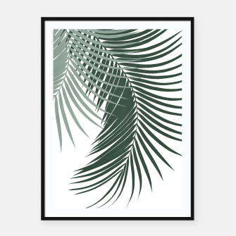Thumbnail image of Palm Leaves Soft & Dark Green Vibes #1 #tropical #decor #art  Plakat mit rahmen, Live Heroes