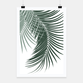 Miniaturka Palm Leaves Soft & Dark Green Vibes #1 #tropical #decor #art  Plakat, Live Heroes