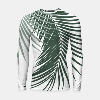 Miniaturka Palm Leaves Soft & Dark Green Vibes #1 #tropical #decor #art  Longsleeve rashguard, Live Heroes