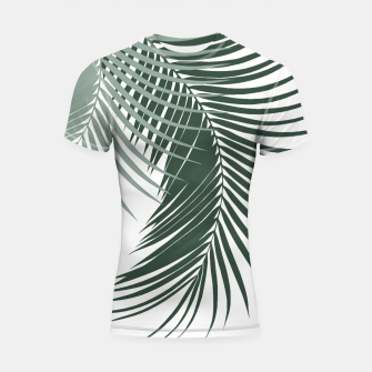 Thumbnail image of Palm Leaves Soft & Dark Green Vibes #1 #tropical #decor #art  Shortsleeve rashguard, Live Heroes