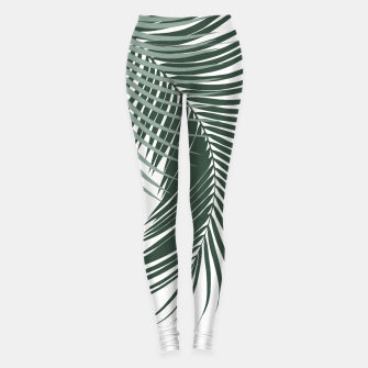Miniaturka Palm Leaves Soft & Dark Green Vibes #1 #tropical #decor #art  Leggings, Live Heroes