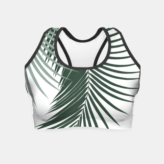 Miniaturka Palm Leaves Soft & Dark Green Vibes #1 #tropical #decor #art  Crop Top, Live Heroes