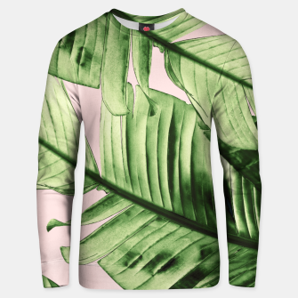 Miniaturka Tropical Blush Banana Leaves Dream #6 #decor #art Unisex sweatshirt, Live Heroes