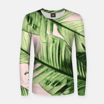 Miniaturka Tropical Blush Banana Leaves Dream #6 #decor #art Frauen sweatshirt, Live Heroes