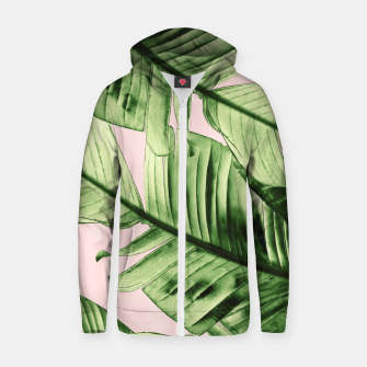 Miniaturka Tropical Blush Banana Leaves Dream #6 #decor #art Reißverschluss kapuzenpullover, Live Heroes