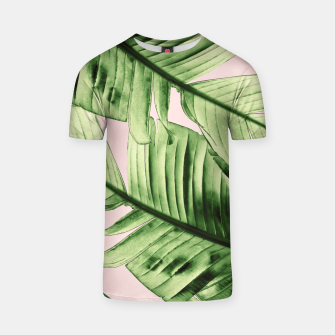 Miniaturka Tropical Blush Banana Leaves Dream #6 #decor #art T-Shirt, Live Heroes
