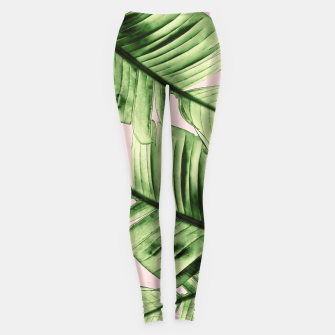 Miniaturka Tropical Blush Banana Leaves Dream #6 #decor #art Leggings, Live Heroes