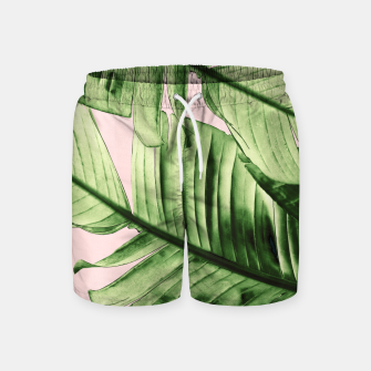 Miniaturka Tropical Blush Banana Leaves Dream #6 #decor #art Badeshorts, Live Heroes