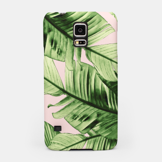 Miniaturka Tropical Blush Banana Leaves Dream #6 #decor #art Handyhülle für Samsung, Live Heroes