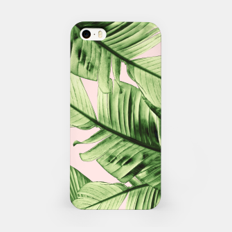 Miniaturka Tropical Blush Banana Leaves Dream #6 #decor #art iPhone-Hülle, Live Heroes