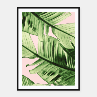 Miniaturka Tropical Blush Banana Leaves Dream #6 #decor #art Plakat mit rahmen, Live Heroes