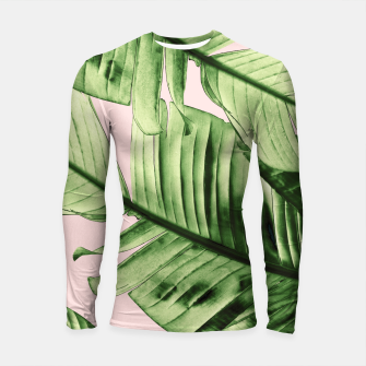 Miniaturka Tropical Blush Banana Leaves Dream #6 #decor #art Longsleeve rashguard, Live Heroes
