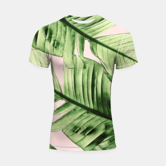 Miniaturka Tropical Blush Banana Leaves Dream #6 #decor #art Shortsleeve rashguard, Live Heroes
