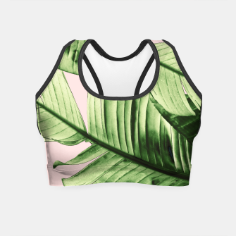 Miniaturka Tropical Blush Banana Leaves Dream #6 #decor #art Crop Top, Live Heroes