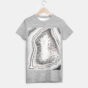 Miniatur Agate Rose Gold Glitter Glam Night #2 #gem #decor #art  T-Shirt regulär, Live Heroes