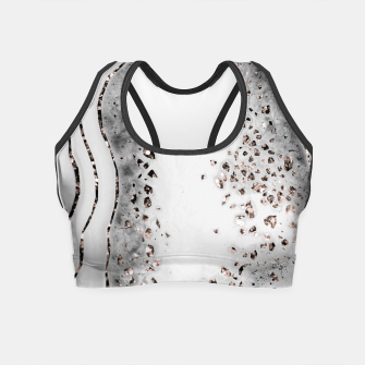 Miniatur Agate Rose Gold Glitter Glam Night #2 #gem #decor #art  Crop Top, Live Heroes