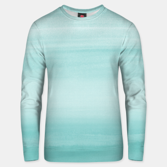 Touching Aqua Blue Watercolor Abstract #2 #painting #decor #art Unisex sweatshirt thumbnail image