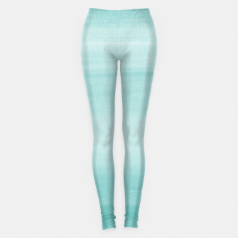 Touching Aqua Blue Watercolor Abstract #2 #painting #decor #art Leggings thumbnail image