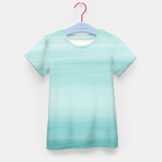 Touching Aqua Blue Watercolor Abstract #2 #painting #decor #art T-Shirt für kinder thumbnail image