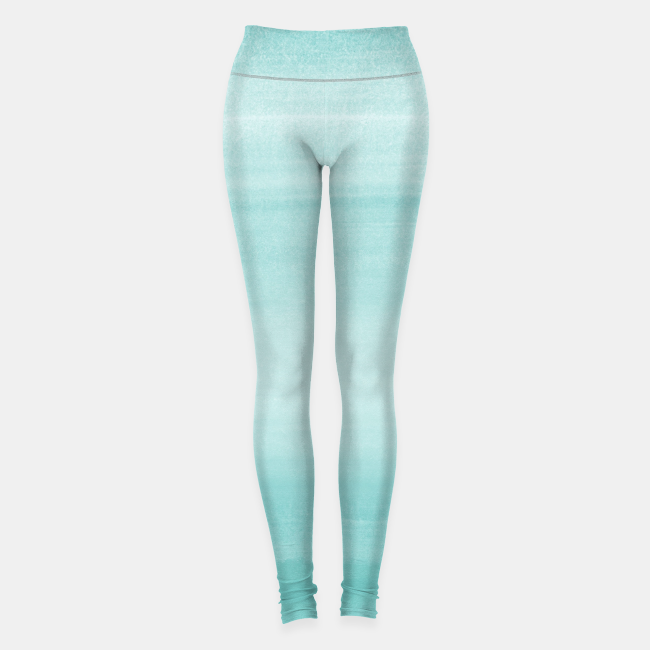 Image of Touching Aqua Blue Watercolor Abstract #2 #painting #decor #art Leggings - Live Heroes