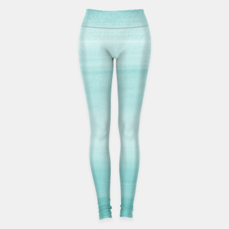 Miniatur Touching Aqua Blue Watercolor Abstract #2 #painting #decor #art Leggings, Live Heroes