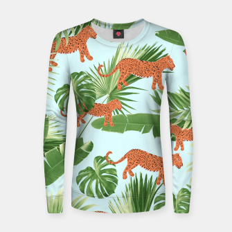 Imagen en miniatura de Leopard Jungle Dream Pattern #1 (Kids Collection) #decor #art Frauen sweatshirt, Live Heroes