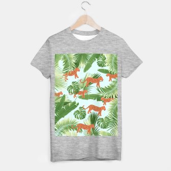 Imagen en miniatura de Leopard Jungle Dream Pattern #1 (Kids Collection) #decor #art T-Shirt regulär, Live Heroes