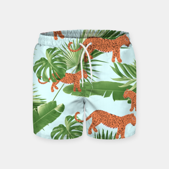 Imagen en miniatura de Leopard Jungle Dream Pattern #1 (Kids Collection) #decor #art Badeshorts, Live Heroes