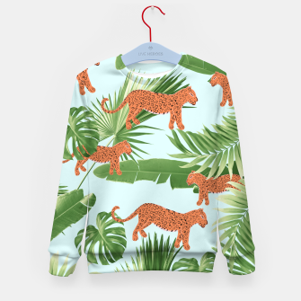 Imagen en miniatura de Leopard Jungle Dream Pattern #1 (Kids Collection) #decor #art Kindersweatshirt, Live Heroes