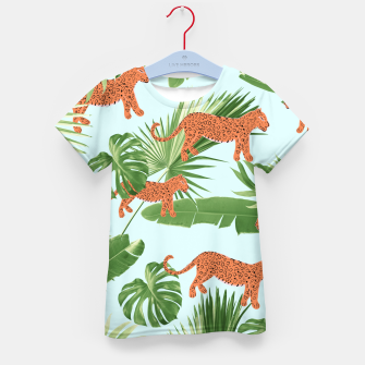 Imagen en miniatura de Leopard Jungle Dream Pattern #1 (Kids Collection) #decor #art T-Shirt für kinder, Live Heroes