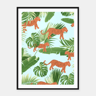 Imagen en miniatura de Leopard Jungle Dream Pattern #1 (Kids Collection) #decor #art Plakat mit rahmen, Live Heroes