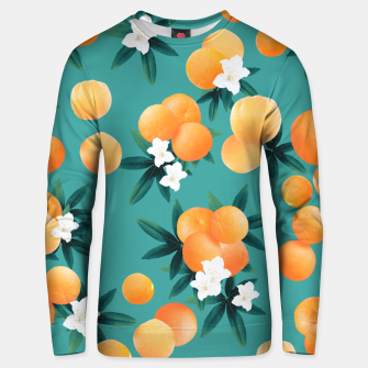 Thumbnail image of Orange Twist Flower Vibes #8 #tropical #fruit #decor #art Unisex sweatshirt, Live Heroes