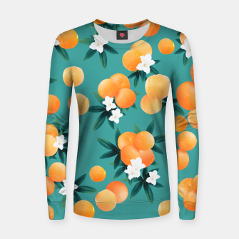 Thumbnail image of Orange Twist Flower Vibes #8 #tropical #fruit #decor #art Frauen sweatshirt, Live Heroes