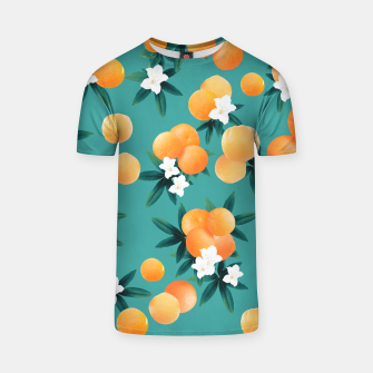 Thumbnail image of Orange Twist Flower Vibes #8 #tropical #fruit #decor #art T-Shirt, Live Heroes