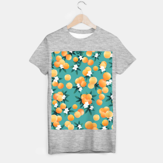 Thumbnail image of Orange Twist Flower Vibes #8 #tropical #fruit #decor #art T-Shirt regulär, Live Heroes