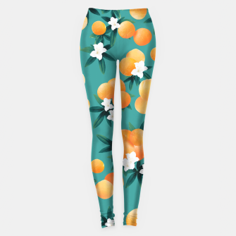 Thumbnail image of Orange Twist Flower Vibes #8 #tropical #fruit #decor #art Leggings, Live Heroes