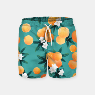 Thumbnail image of Orange Twist Flower Vibes #8 #tropical #fruit #decor #art Badeshorts, Live Heroes