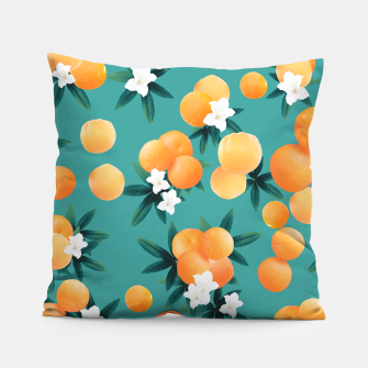 Thumbnail image of Orange Twist Flower Vibes #8 #tropical #fruit #decor #art Kissen, Live Heroes