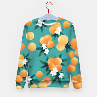 Thumbnail image of Orange Twist Flower Vibes #8 #tropical #fruit #decor #art Kindersweatshirt, Live Heroes