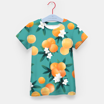 Thumbnail image of Orange Twist Flower Vibes #8 #tropical #fruit #decor #art T-Shirt für kinder, Live Heroes