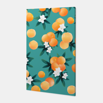 Thumbnail image of Orange Twist Flower Vibes #8 #tropical #fruit #decor #art Canvas, Live Heroes