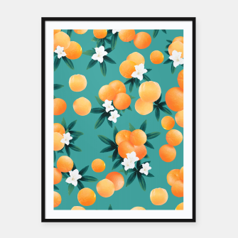 Thumbnail image of Orange Twist Flower Vibes #8 #tropical #fruit #decor #art Plakat mit rahmen, Live Heroes