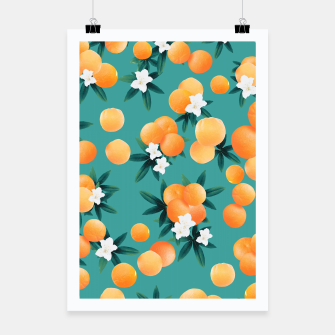 Thumbnail image of Orange Twist Flower Vibes #8 #tropical #fruit #decor #art Plakat, Live Heroes