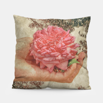 Thumbnail image of Beauty Concept Photo Collage Illustration Pillow, Live Heroes