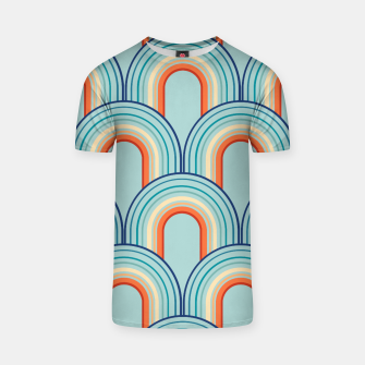 Thumbnail image of Rainbow Arch Minimal Abstract Wave #2 #decor #art T-Shirt, Live Heroes