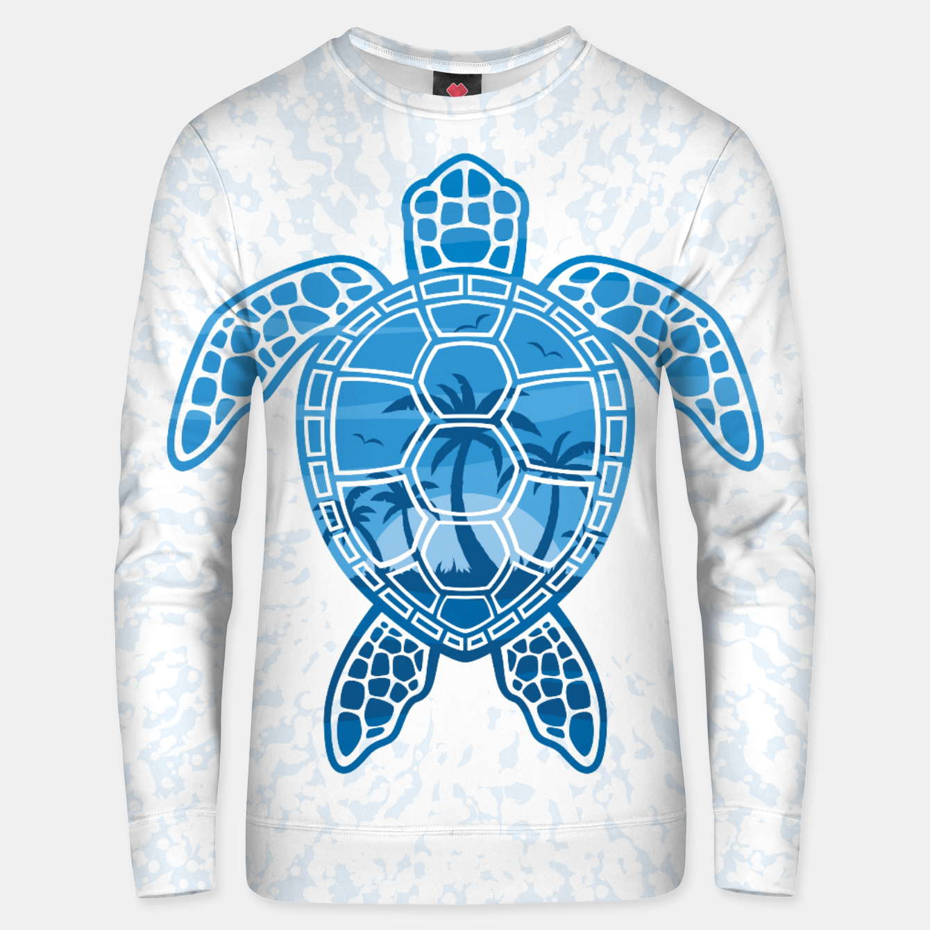 Foto Tropical Island Sea Turtle Design in Blue Unisex sweater - Live Heroes