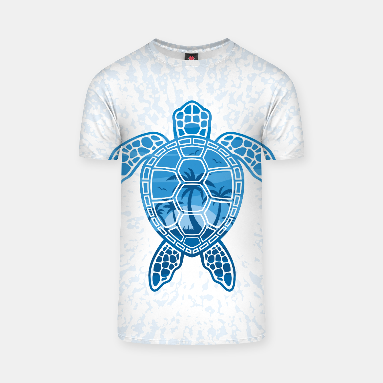 Foto Tropical Island Sea Turtle Design in Blue T-shirt - Live Heroes