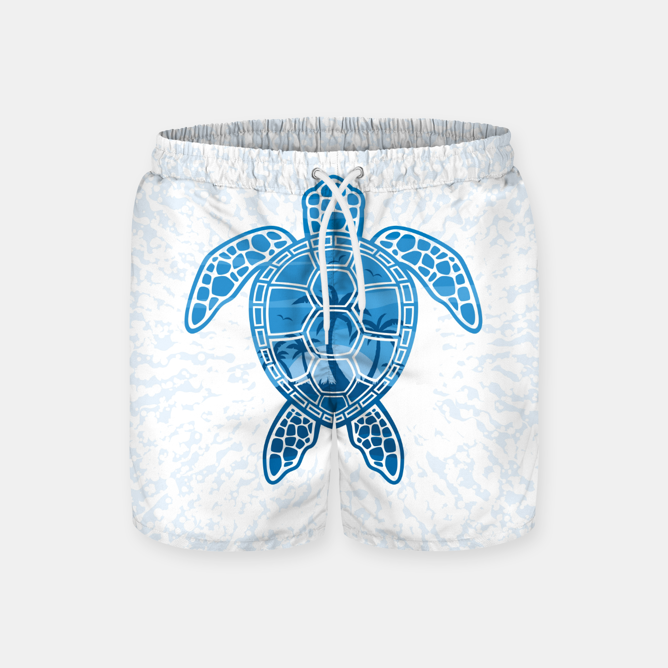 Foto Tropical Island Sea Turtle Design in Blue Swim Shorts - Live Heroes