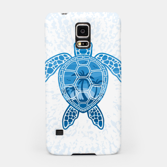 Tropical Island Sea Turtle Design in Blue Samsung Case Bild der Miniatur